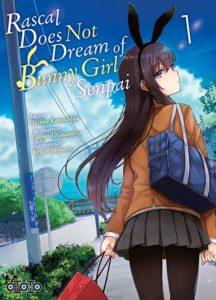 Couverture du tome 1 de Rascal Does Not Dream of Bunny Girl Senpai chez Ototo Manga