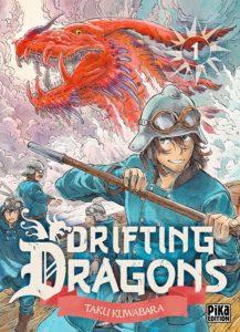 Couverture du tome 1 de Drifting Dragons chez Pika éditions