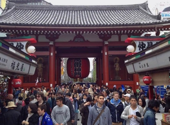 Temple Tokyo comportements touristes