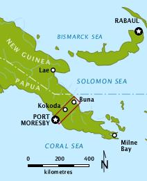 Carte de la piste Kokoda