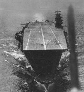 L'Akagi, le navire amiral de la flotte japonaise en avril 1942