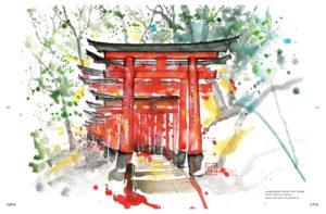 Kisetsu : page intérieure torii l'été
