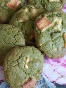 cookies matcha-chocolat blanc : photo d'Alice MONARD