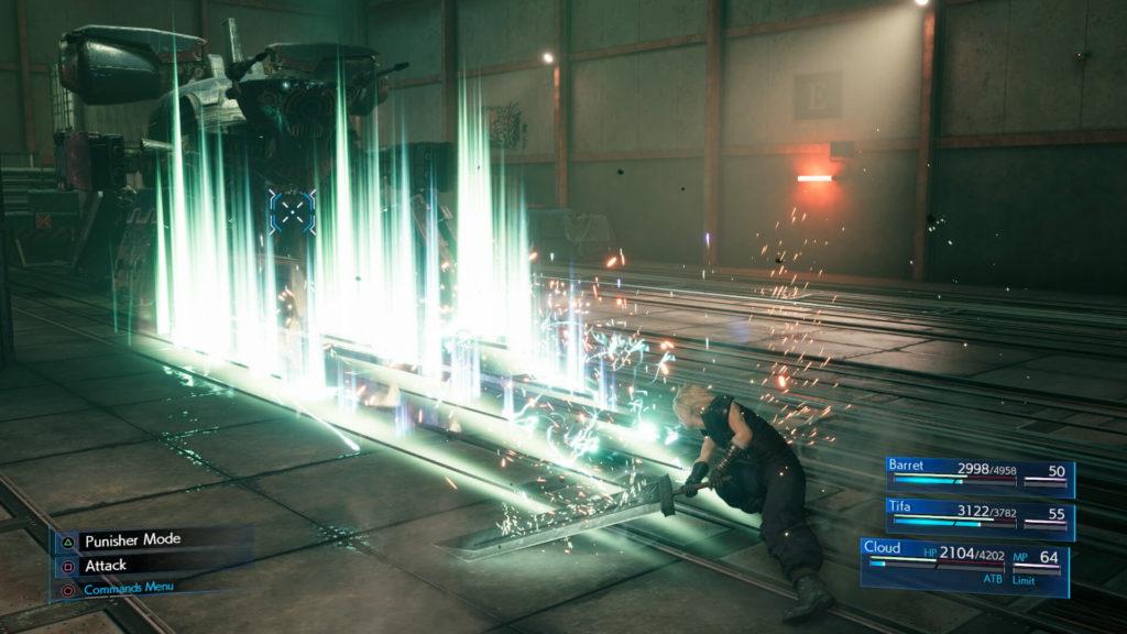 Final Fantasy VII Remake - Cloud combat