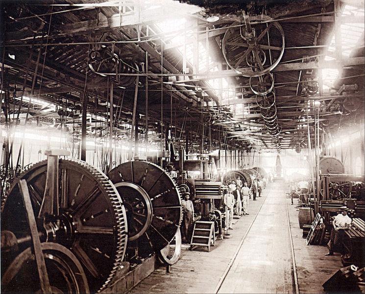 Intérieur d'une usine au Brésil en 1880