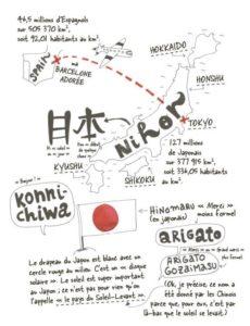 Carte du Japon extraite de Wabi Sabi d'Amaia Arrazola