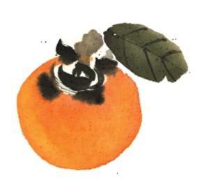 kaki peint par Morgane Boullier, extrait du livre Quelque chose du Japon d'Angelo Di Genova, éditions Nanika