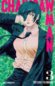 Couverture du tome 3 de Chainsaw Man chez kaze manga