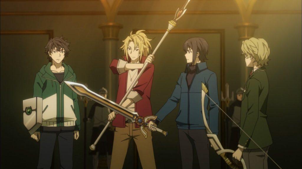 Les quatre héros de The Rising of the Shield Hero