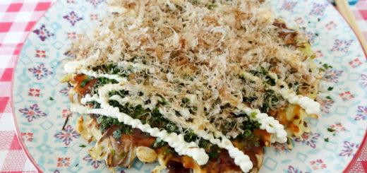 Okonomiyaki champignon chèvre