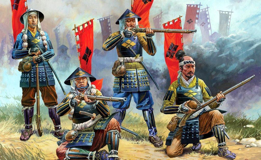 Ashigaru armés d'arquebuses teppô