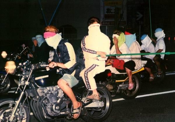 Bosozoku en parade @prefecture de police d'Hiroshima, pour Jijipress
