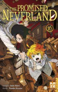 Couverture du tome 16 de The Promised Neverland chez Kazé mangas