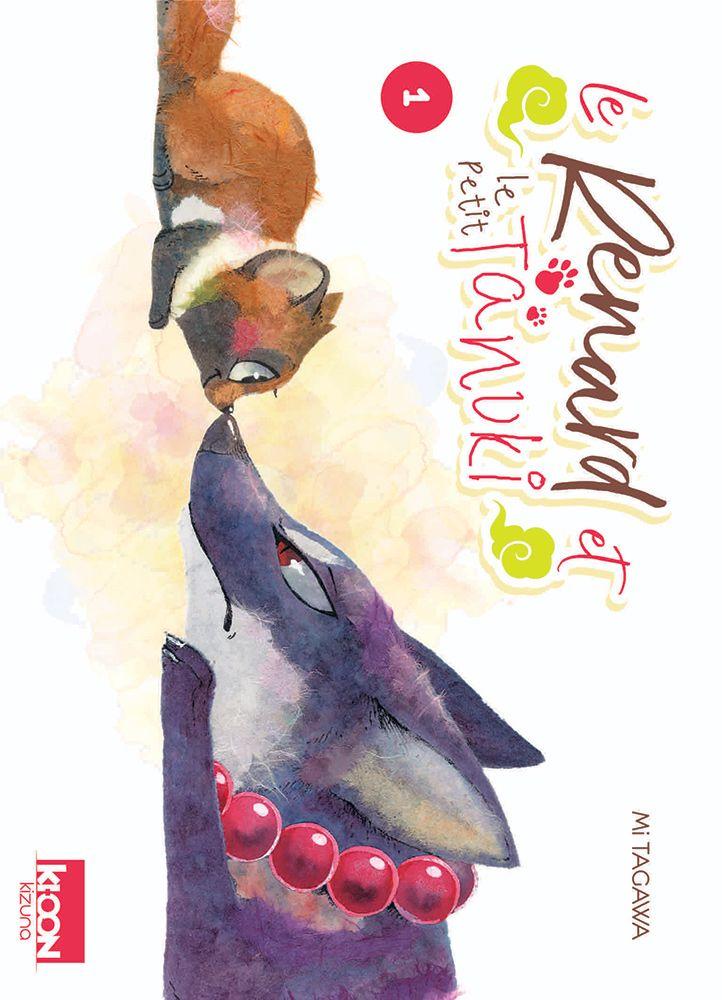 Couverture du tome 1 de Le Renard et le Tanuki chez Ki-oon