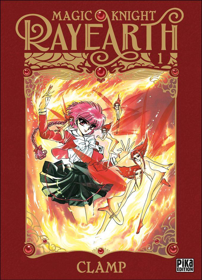 Couverture du tome 1 de Magic Knight Rayearth chez Pika