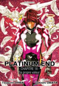 Page de chapitre de Platinum End en simultrad / ©Takeshi Obata - Shûeisha - Kazé manga