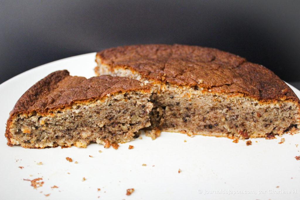 Résultat du gâteau aux noix made in Ghibli
