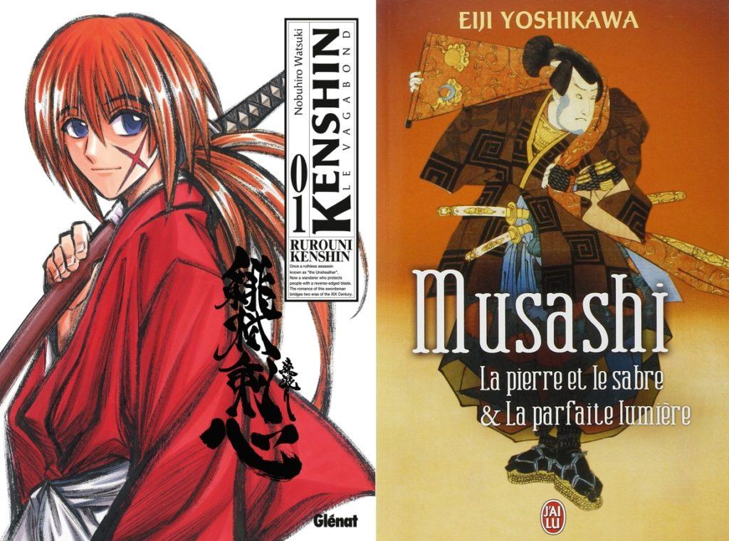 Kenshin le Vagabond et les romans Musashide Eiji Yoshikawa