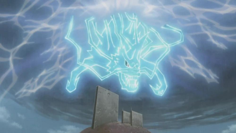 Puissante attaque Kirin de Sasuke