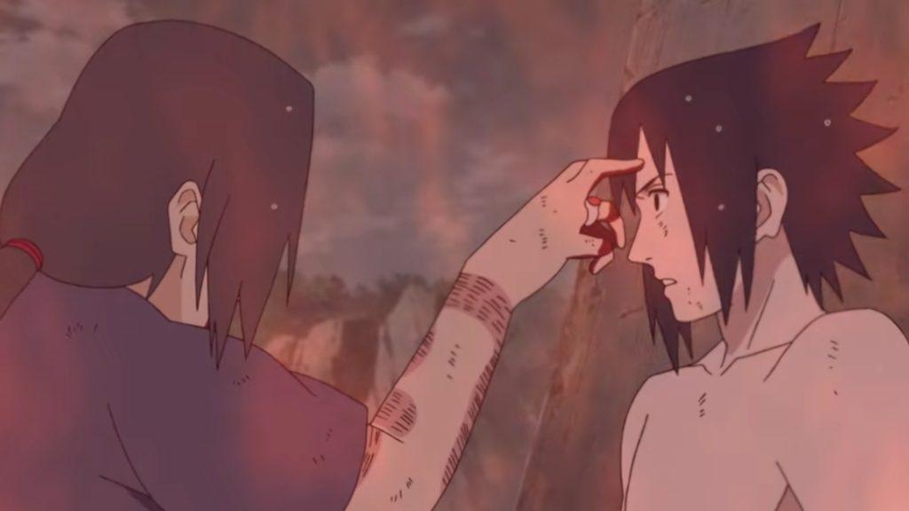 Sasuke et Itachi, dernière pichenette avant le trépas de Itachi
