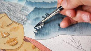 La fête des ombres, mise en peinture : photo Atelier Sento (sur leur site)