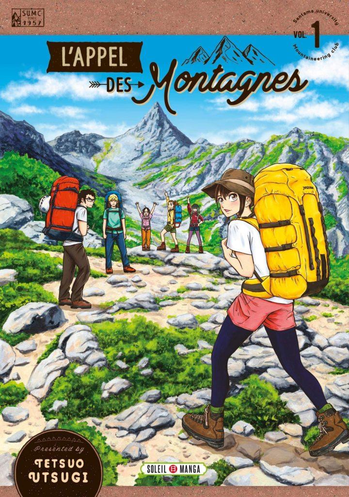 Couverture du tome 1 de L'appel des montagne chez Soleil Manga