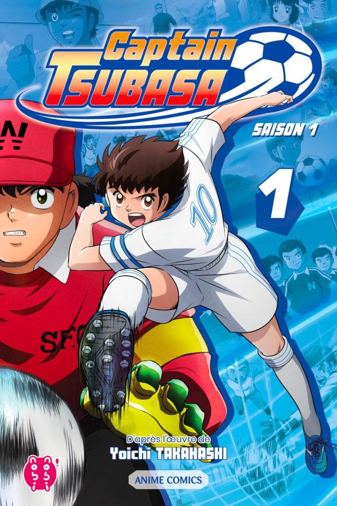 Couverture du tome 1 de Captain Tsubasa Anime Comics chez Nobi Nobi