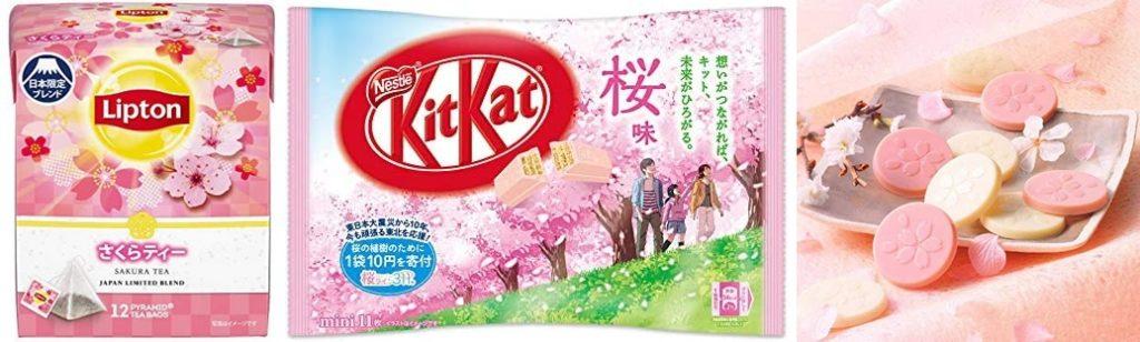 Exemples de produits au goût sakura