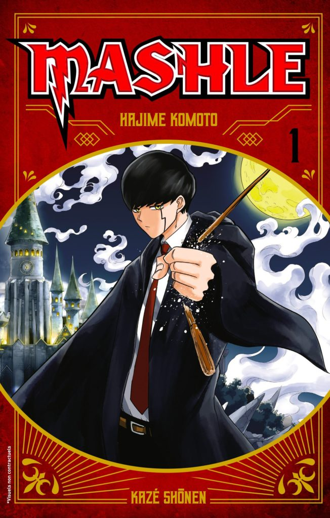 Couverture du tome 1 de Mashle chez Kazé Manga