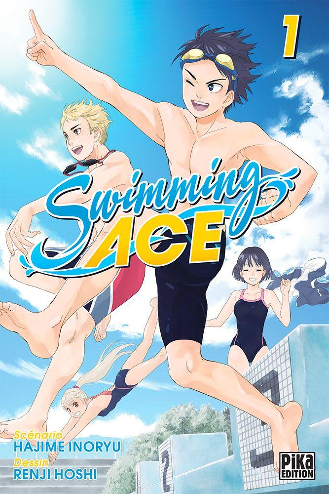 Couverture du tome 1 de Swimming Ace chez Pika