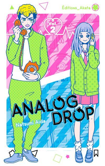 Couverture du 2e et dernier tome de Analog Drop chez Akata