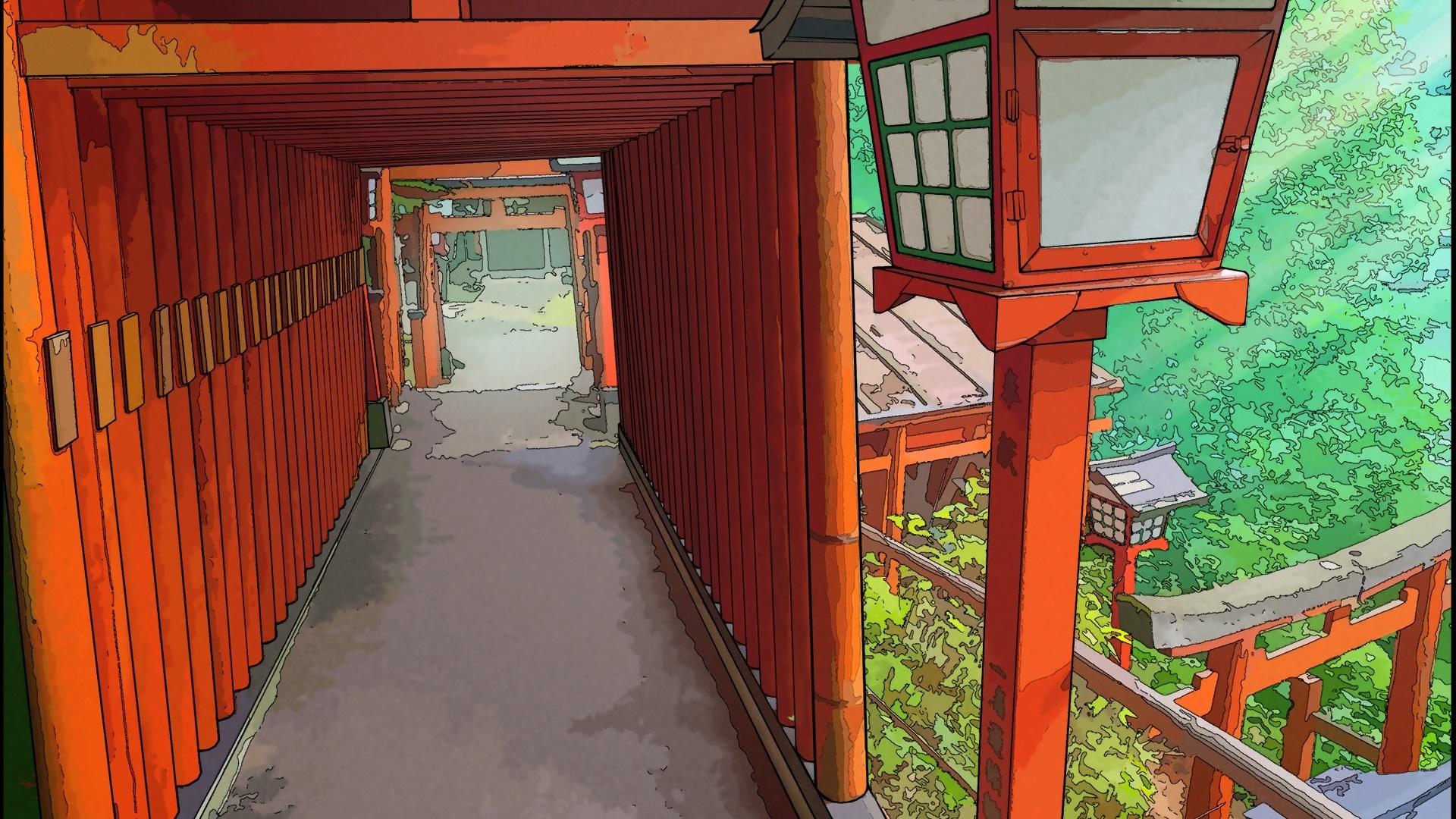 torii du sanctuaire de taikodani inari dans Root FIlm