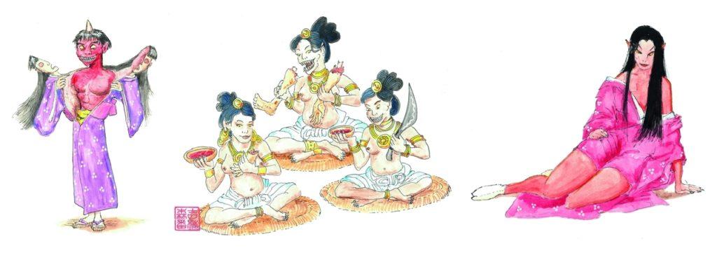 Exemples d'oni du Grand Livre des Oni