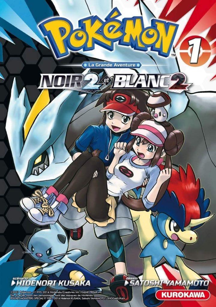Couverture du tome 1 de Pokémon Noir 2 et Blanc 2 chez Kurokawa