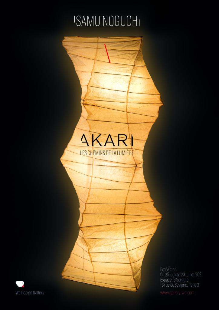 Affiche de l'exposition AKARI par la Wa Design Gallery