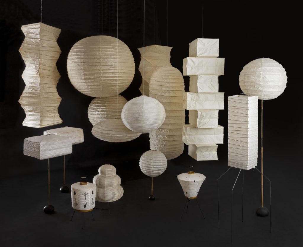 Florilège de lampes AKARI exposées par la Wa Design Gallery ©Jean-Pierre Vaillancourt