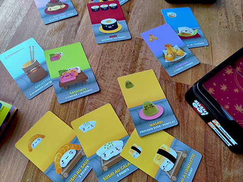 Cartes de Sushi Go