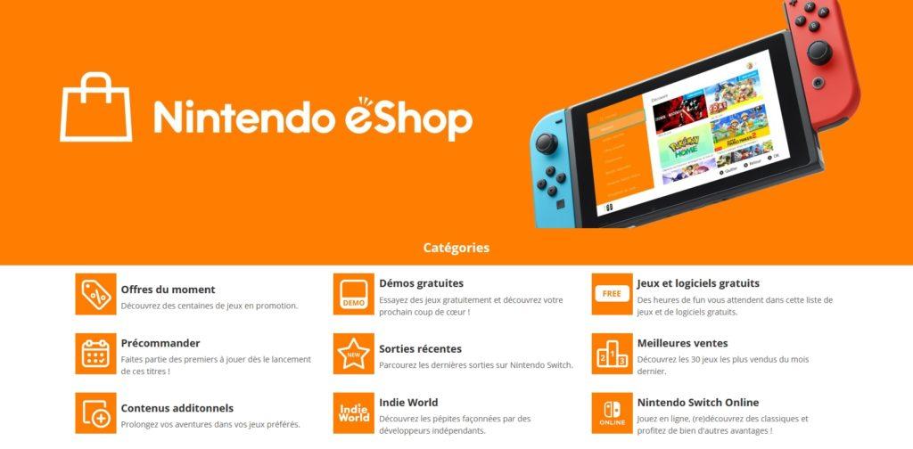 Nintendo eShop et ses avantages
