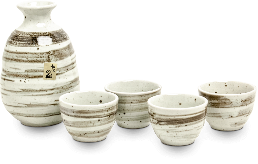 Ensemble à saké blanc